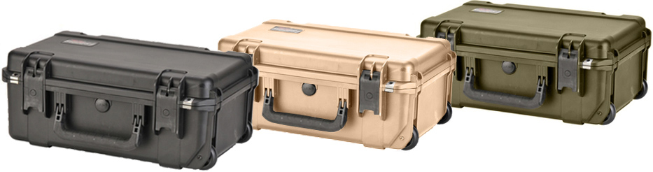 Tactical Power portable products come in black cases, with desert tan or olive drab optionally available.